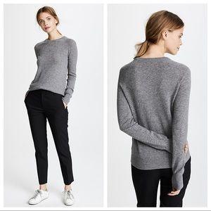 Equipment Sloane 100% Cashmere Gray Sweater Sz XXS